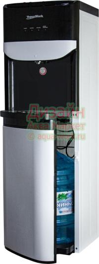 Кулер для воды Кожа белая с загрузкой снизу