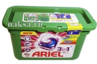 Финский Гель ARIEL 3 in 1 Color&Style в капсулах на 24 стирок, 24 капсул